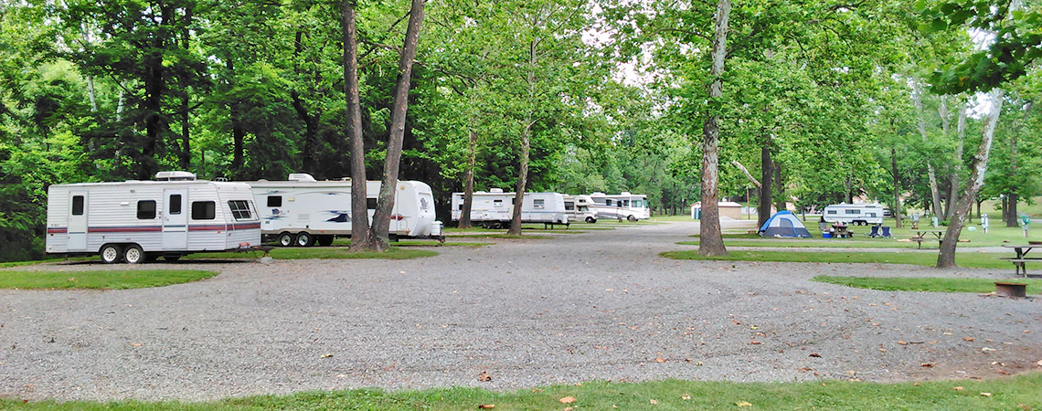 Spacious Campsites at Lazy K Campground