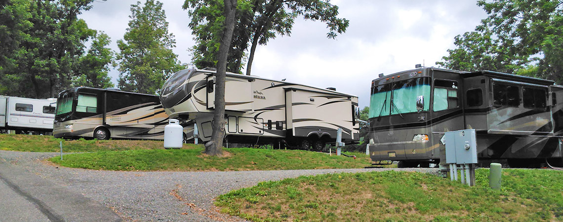 Large Pull-Thru Sites at Lazy K Campground